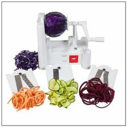Wholesale vegetable julienne shredder - Manual Vegetable Cutter Mandoline Slicer Potato Julienne Carrot Slicer Onlion Grater Slicer With 3pcs Built-in Blades CCA8603 50pcs