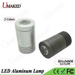 Wholesale Head Light Lens - 5pc 1W 3W LED Alumimun Lamp Head Couter lights Base Case Kit M8 Jewelry lamp Mount With heat sink PCB Plate+Lens free shipping