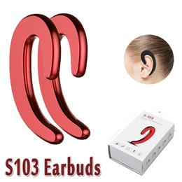 hd mic Rebajas Ear-hook Wireless Bluetooth Headphones HD llamada con micrófono S103 para iPhone X 8 Note8 para Huawei todos los teléfonos inteligentes