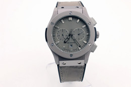 Wholesale Fusion Brands - luxury brand 42mm case man BANG watch Automatic Fusion all Titanium color Watch Leather watch