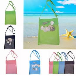 b0ede98660cee 2019 sand weg tasche Kinder Strand Netztasche Baby Shell Strandtaschen  Handtaschen Kind Ball Tasche Strand Sand