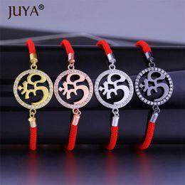 Bracelets indiens de haute qualité en Ligne-Bijoux Indiens De Haute Qualité De Cuivre Métal De Zircon Strass Classique AUM OM Bracelets Bracelets Pour Hommes Femmes Corde Yoga Bracelets