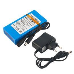 Мощность 12v cctv онлайн-Freeshipping DC 12V батарея 6800 мАч супер емкость литий-ионный аккумулятор с ЕС / США Plug 6800MAH замена питания для камеры видеонаблюдения