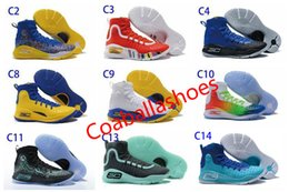 Wholesale special shoes men - New Hot Stephen Curry 4 Basketball Shoes Professional Basketball Game Special Fashion Trends Personality Design Outdoor Men's Sports Sh