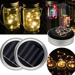 Wholesale Electric Rope - Solar Light String Mason Jar Bottle Lid Lamp Garden Landscape Supply Decoration