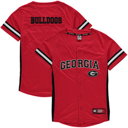 Wholesale Women Zone - Custom Georgia Bulldogs College Baseball Jerseys Men Women Youth Any Name Any Number NCAA Strike Zone Baseball Jersey S-4XL