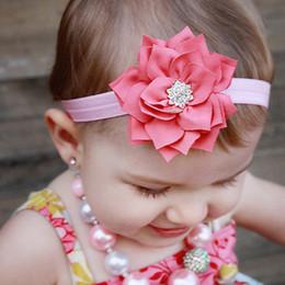 Wholesale Photographic Props - 1PC Newborn Headwear Elastic Feather Headband Kids Hair Bands Flower Hair Accessories Rhinestone Photographic Props w--023