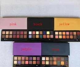 Maquillaje moderno Paleta de sombra de ojos 14 colores 5 Estilos rosa / azul / negro / amarillo / negro Paleta de sombra de ojos limitada con cepillo bueno desde fabricantes