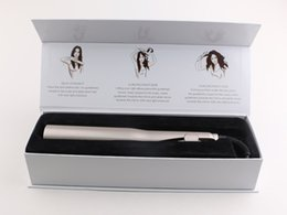 Wholesale Wholesale Ceramic Hair Straighteners - Hair IRON Gold Plated Titanium Plates Fast Hair Straighteners Irons Fast Hair Straightening Ceramic Curler Styling Tools