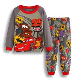 Argentina 2018 nueva moda de algodón ropa para niños niño bebé de dibujos animados coche servicio a domicilio pijamas traje cheap children cars cartoon clothing Suministro