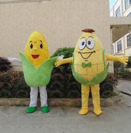 2019 costume de maïs Taille adulte mascotte de maïs mascotte personnalisé maïs mascotte déguisement déguisement robe événement de fête d'anniversaire mascotte mascotte costume de maïs pas cher