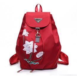 Sac à main d'impression coréenne en Ligne-2018 nouveau sac à bandoulière en nylon imprimé sac à main version coréenne du sac à dos de voyage imperméable sauvage simple marée