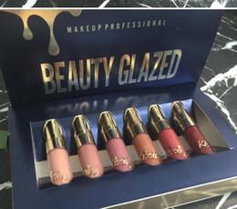 Deutschland Schönheit Glasierte Goldkosmetik-Geburtstags-Ausgabe 6pcs stellte Lipgloss Kosmetik-Mattflüssigkeits-Lippenstift-Lipgloss-Lippenglanz-Installationssatz-Schönheit glasig ein supplier gold glaze Versorgung