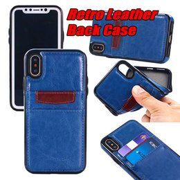 Wholesale credit card case holders - For iPhone x iPhone 8 Plus Phone Case Leather TPU Back Cover Wallet Case with Credit Card Slot Holder for Samsung S8 Plus