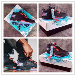Wholesale Woman Chinese Shoes - High Quality Retro 5 Low Chinese New Year Kite Basketball Shoes Men Women Retro 5s CNY Sports Sneakers Shoes size 36-47