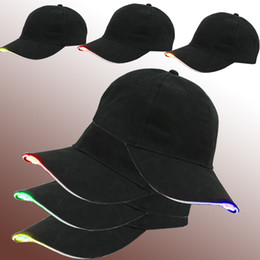 Wholesale led bulbs for camping - 5leds LED Hat Hands Free LED Baseball Cap Hat for Outdoor Jogging, Camping, Hiking, Hip Hop Party, Fishing