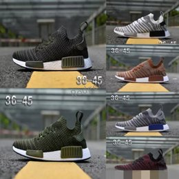 562b3fe452c55 2018 NMD Runner R1 STLT Chukka Primeknit Design For Men Women Running Shoes  Sport Fashion Mesh Breathable Sneaker