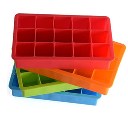 square silicone ice cube tray Promo Codes - Silicone Ice Cube Tray Molds Candy Mold Cake Chocolate Mold 15 Cavity Square Baking Mold Cake Pan Muffin wn515 100pc