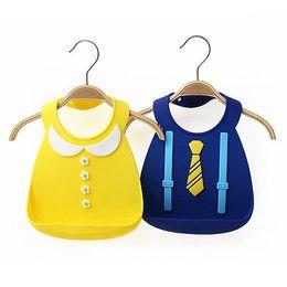 Wholesale Blue Burp Cloths - Burp Cloths 2017 Lovely Baby Infants Kids Cute Silicone Bibs Baby Lunch Bibs Cute Waterproof