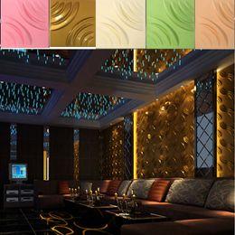 Wholesale Football Wall Decor - Rose shape designed Vinyl Wall Sticker Football Club Home Decor hotel KTV wall decor Light-weight 3D PVC Wall Ceilling Panels