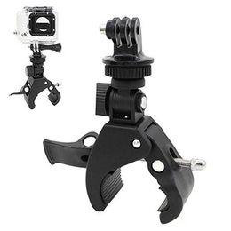 Wholesale bicycle handlebar clamps - Bicycle Bike Handlebar Clamp Roll Bar Mount+Tripod Adapter for  Hero 1 2 3 3+