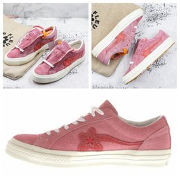 Wholesale yellow hip hop shoes - SUEDE ONE STAR OX TYLER THE CREATOR GOLF LE FLEUR GERANIUM PINK WHITE ONESTAR 160325C SOLAR POWER HIP HOP SKATE SHOES SNEAKERS CASUAL