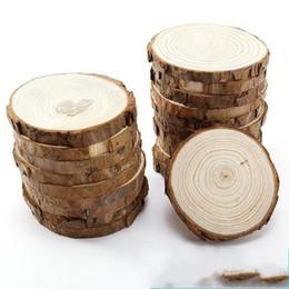 Tronchi di legno online-Tronchi di legno di pino a mano fai da te pittura tondi tronchi puntelli di legno per bomboniere regali di festa decorazioni per la casa 0 45fh ff