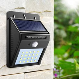 Wholesale Outside Home Lighting - 20 LED Solar Lights Outdoor,Waterproof Solar Powered Motion Sensor Light Wireless Security Lights Outside Wall Lamp 5000K for Driveway Patio