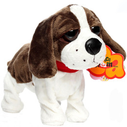 robot dog plush Coupons - Cute Electronic Dogs Pets Sound Control Interactive Robot Toy Dog Bark Stand Walk Electronic Pets Toys Christmas Children Gift