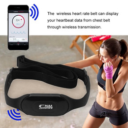 Wholesale Monitor Strap - Wireless Bluetooth 4.0 Heart Rate Meter Cardio Sport Chest Strap Belt Heart Rate Monitor Meter for iPhone Android