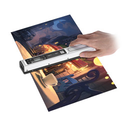 Wholesale Book Scanners - Portable Color Mono Scanner Handheld Wireless Wand Scanner 900dpi Rechargeable with Bag for Document Photo Book Recipts Magazine