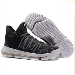 Wholesale Kd Shoes High Cut - High Quality Athletic KD 10 BHM Basketball Shoes Multi-color Sports Shoes
