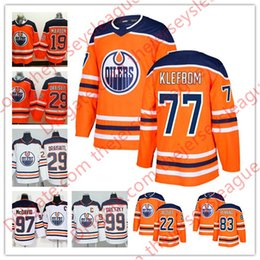 49615ed5b63 Edmonton Oilers 2018 Hot Sale  77 Oscar Klefbom 81 Yohann Auvitu 83 Matthew  Benning White Orange Home Stitched Hockey Jerseys S-60