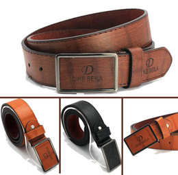 Wholesale Active Brush - Wholesale- Fanshion Men's Belt Male strap brushed buckle men artificial leather male belt casual 4 color