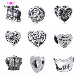 Argentina Auténticos 925 encantos de plata esterlina de Zirconia del corazón Fit originales Pandora pulseras joyería de DIY Suministro