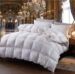 Wholesale Hotel Quality Duvets - Goose Down Comforter Winter Warm Goose Down Quilt High Quality Blankets Duvet Cotton Fabric cover 5 colors