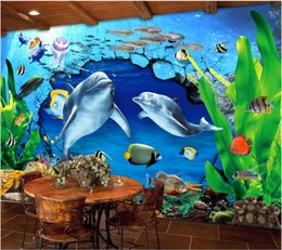 woods country decor Coupons - 3d wallpaper custom photo Dolphin underwater world beautiful wall home decor painting 3d wall murals wallpaper for walls 3 d living room