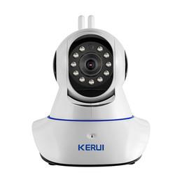 Systèmes de sécurité intrus en Ligne-KERUI Sans Fil WiFi HD Caméra IP WiFi GSM Intrusion Système D'alarme Antivol Sécurité 720P 3.6mm len GSM Dispositif De Surveillance
