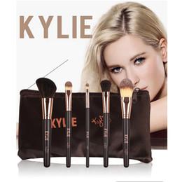 Wholesale Black Eyeshadow Makeup - 2018 Kylie Jenner Make Up Complexion Brush Set Nake Eyeshadow Palettes Foudation Makeup Brushes High Tech Cosmetics Tools