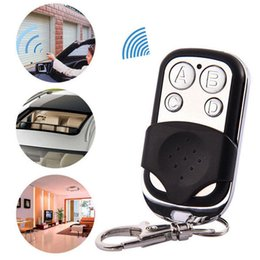 Wholesale cloning remote 433mhz - Universal 4-Button Wireless Auto Remote Control Cloning Electric Gate Garage Door 433MHZ Wireless Key Keychain car Remote Control GGA67