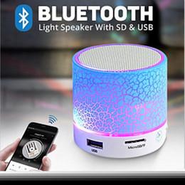 Bluetooth mini haut-parleur en Ligne-LED Portable Mini Bluetooth Haut-parleurs Haut-Parleur Sans Mains Avec TF USB FM Micro Musique Blutooth Pour Téléphone Mobile iPhone 6 7 s