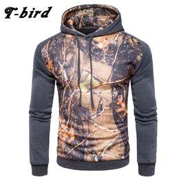 Wholesale Bird Belt - Wholesale-T-bird 2017 New Fashion Hoodies Brand Men Digital Leaf Printing Sweatshirt Male Hoody Hip Hop Autumn Winter Hoodie Mens Pullover