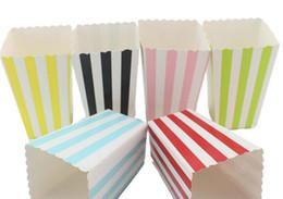 Patrón de círculos online-Home Garden New Wave Circles Pattern Folding Candy Popcorn Boxes Fiesta de cumpleaños Boda Candy / Sanck Favor Bolsas Papel Chritmas Regalo Bolsa