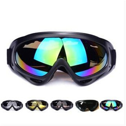 Wholesale Windproof Safety Glasses - Factory price Black Frame Snow Goggles Windproof Motorcycle Snowmobile Ski Goggles Eyewear Sports Protective Safety Glasses out331
