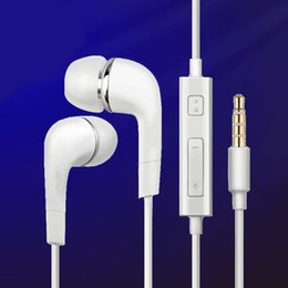 Wholesale Headsets For Mp3 - Earphones In Ear Sport Headset With Mic And Remote Headphones For Apple Samsung Galaxy S7 S7 S6 Edge Mp3 Mobile Phone Earbuds