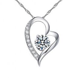 классное ожерелье Скидка Кристалл ожерелье австрийский Кристалл алмазы любовь Сердце кулон заявление ожерелье класс элементы женщины роскошные ювелирные изделия любовь ожерелье
