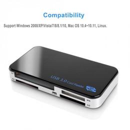 Argentina NuevoLector de tarjetas de memoria universal USB 3.0 Todo en 1 Adaptador Compact Flash CF Micro SD MS XD 5GbpsLos lectores de tarjetas multifunción QJY99 Suministro