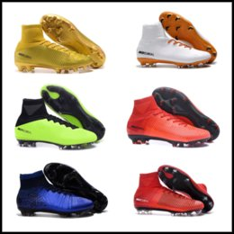 Wholesale Footbal Boots - Top Quality Mens Mercurial Superfly FG CR7 Magista Obra Soccer Shoes Cristiano Ronaldo Cleats Neymar Footbal Shoes Cheapest Soccer Boots