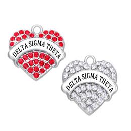2019 hellgrüner achat 10 stücke DIY DELTA SIGMA THETA Griechische Schwesternschaft DST herz kristall charme Organisation Charme