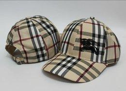 Wholesale Women Designer Hats - Designer Luxury Plaid Baseball Caps Embroidery Fashion brand hats for men casual bone snapback cap women visor gorras casquette hat